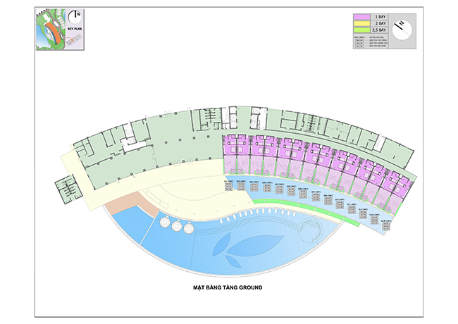 layout mat bang condotel movenpick phu quoc