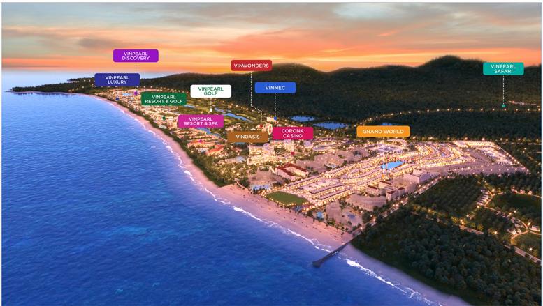 Tiện ích liên kết dự án Grand World Phú Quốc