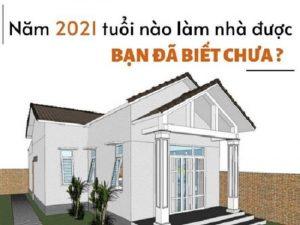xem ngày làm nhà 2021